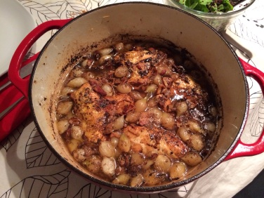 Vinegar Braised Chicken with Pearl Onions